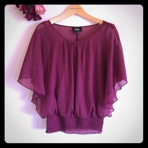 By & By Small Purple Shimmery Blouse